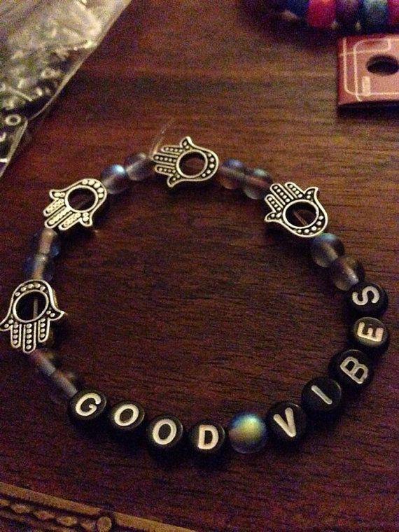 Good Vibes Kandi Bracelet on Etsy, $3.00
