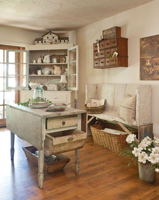 Old Farmhouse Kitchen Area
