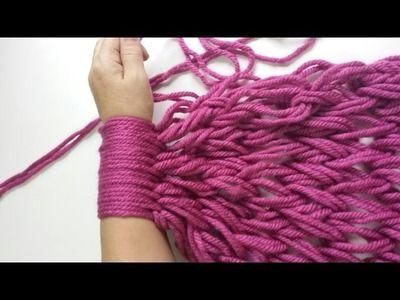 Bufanda Tejida Con Las Manos, Crochet Con Las Manos, Bufandas Hechas A Mano, Bufanda Hecha, Bufandas Diy, Paso Bufanda, Bufanda Trapillo, Hacer Trapillo,