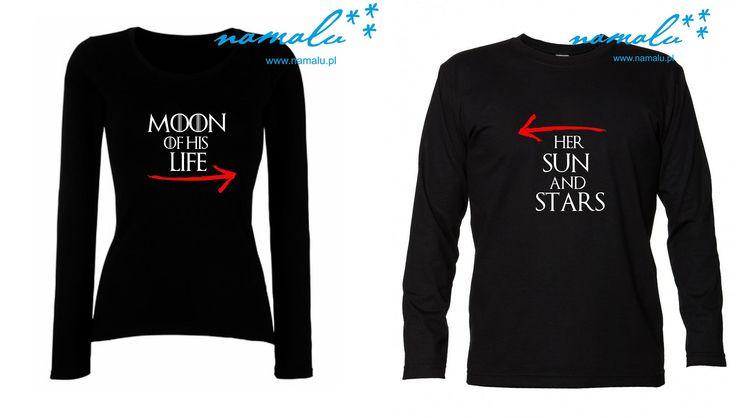http://namalu.pl/dla-par/88-moon-of-his-life-koszulka-damska.html  http://namalu.pl/dla-par/90-her-sun-and-stars-koszulka-meska.html  T-shirt damski męski moon of his life her sun and stars gra o tron game of thrones pieśń lodu i ognia love walentynki ślub dla par for lovers prezent na wesele valentine's day ubranie koszulka nadruk print polish polska firma dobre bo polskie
