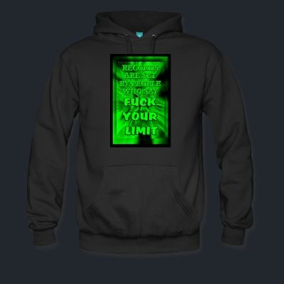 Men's Premium Hoodie - Be Limitless. Motivation edition. Cozy, comfortable, and Heavyweight premium hoodie. 80% cotton 20% polyester. Colors: Black, Navy, Charcoal.