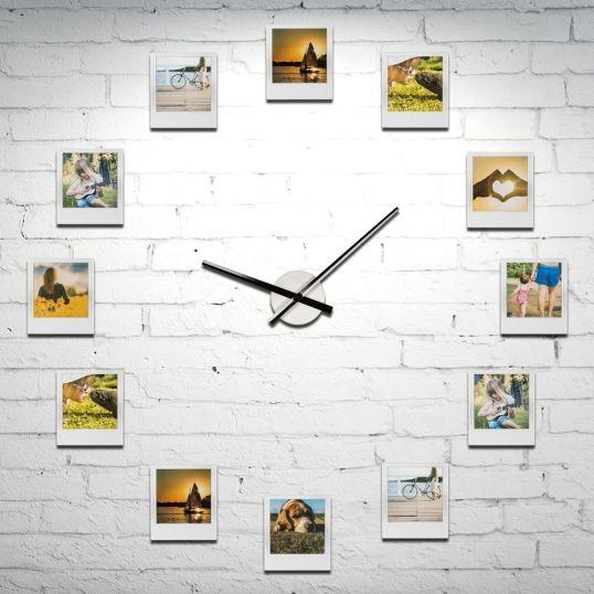 Zegar z ramkami na zdjęcia - 12 ramek z Twoimi wspomnieniami  #zegar #prezent #dlaniej #dom #mieszkanie