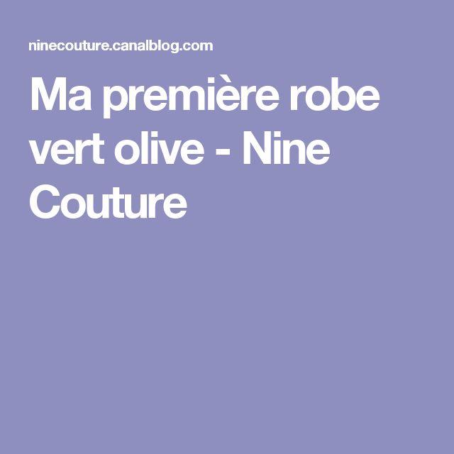 Ma première robe vert olive - Nine Couture