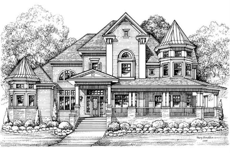Home Design Plans Victorian House Architecture Victorian House Plans Country Style House Plans Dream House Drawing