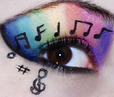 Eyeshadow Designs: 25 Pictures Of Crazy Cool Eye Makeup | Gurl.com #music #rainbow