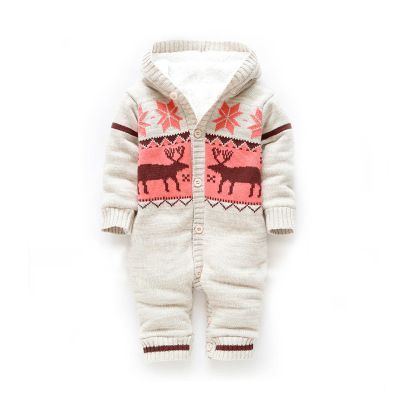 Thick winter coat jacket baby coveralls newborn baby clothes climbing clothes clothing Romper climb out clothes - Taobao https://presentbaby.com