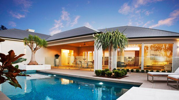 The spectacular outdoor entertaining and pool area of the Pavilion...