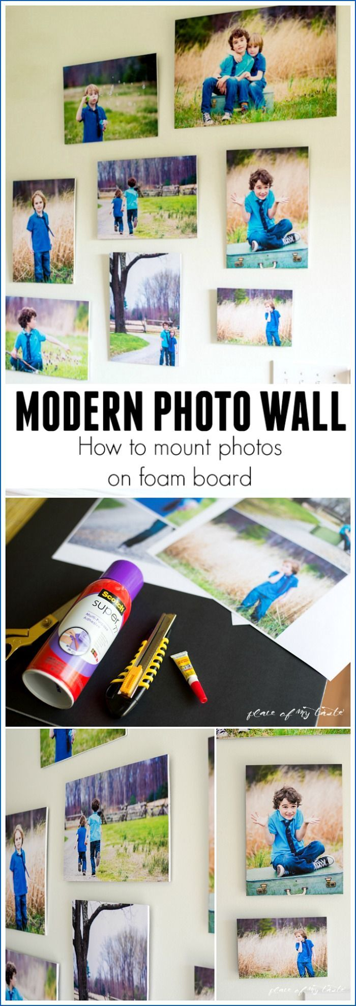 HOW TO MOUNT PHOTOS ON FOAM BOARD