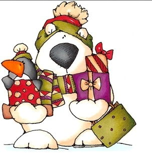 Christmas polar bear clipart - photo#13
