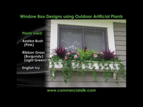 Outdoor Artificial Flowers - A Compilation of Window Plants - YouTube