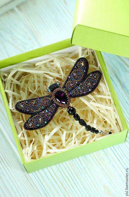"Brooch handmade. Fair Masters - handmade. Buy Brooch ""Dragonfly"". Handmade. Brooch dragonfly brooch dragonfly embroidery"