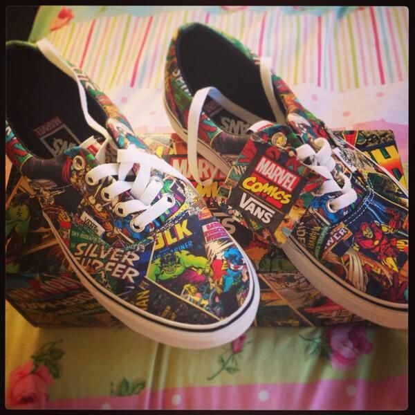Twitter: @lauriethelemon // *high pitched screaming* @Jess Liu Sutton Schuh #vans #marvel