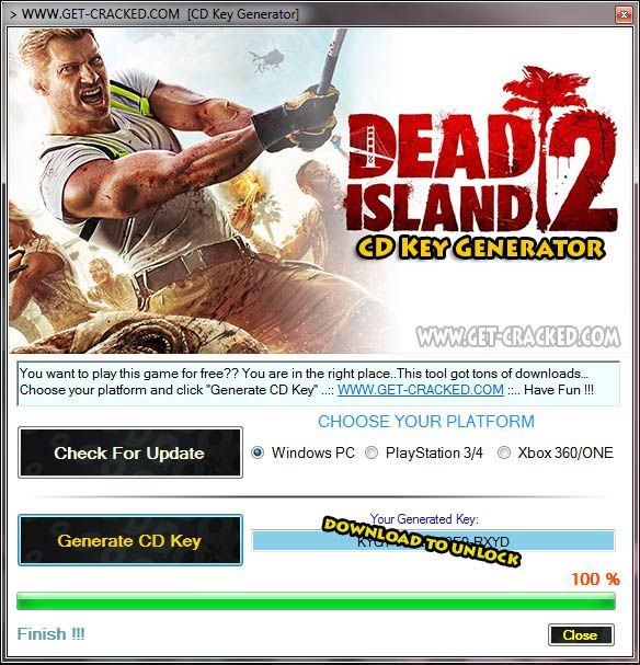Dead Island 2 CD Key Generator 2016