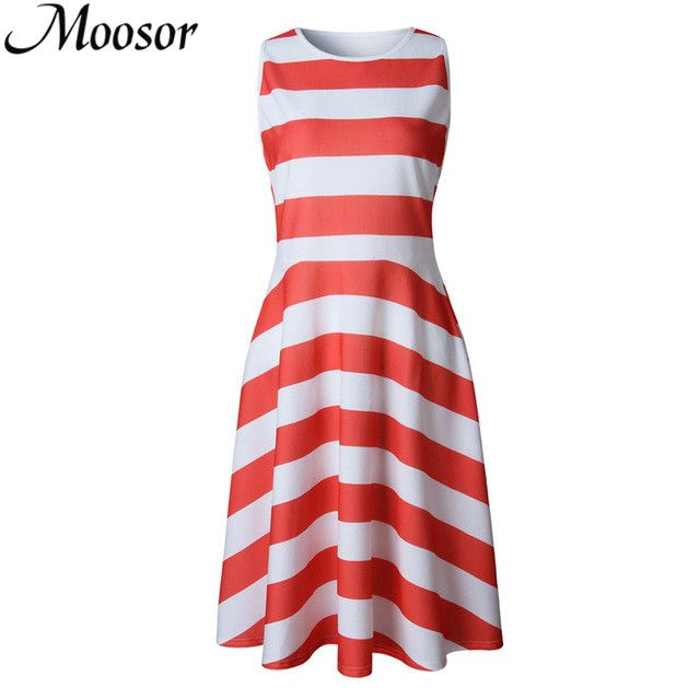 2017 Hot Sale Striped Pleated Sexy Party Dresses Fashion Vestido mujer Summer Dress Plus Size Beach Dress Women Vestidos WG543 #Affiliate