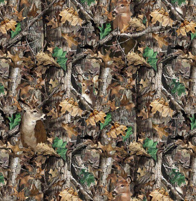 Camo Quilt Patterns Realtree Woods Deer In Camo 9908