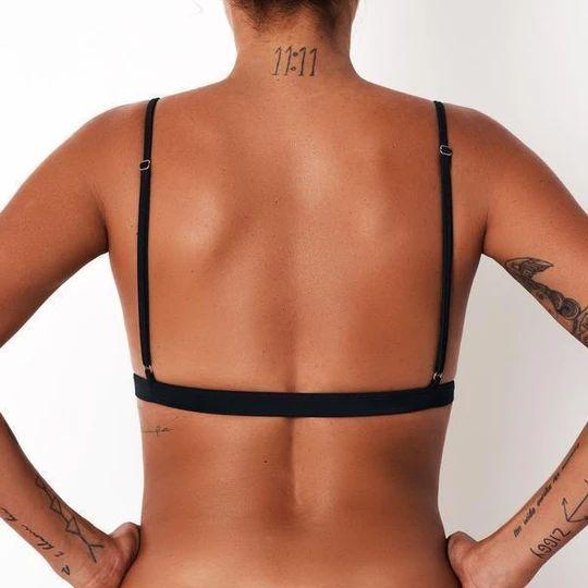 Triangle Front-Clasp Bikini Top