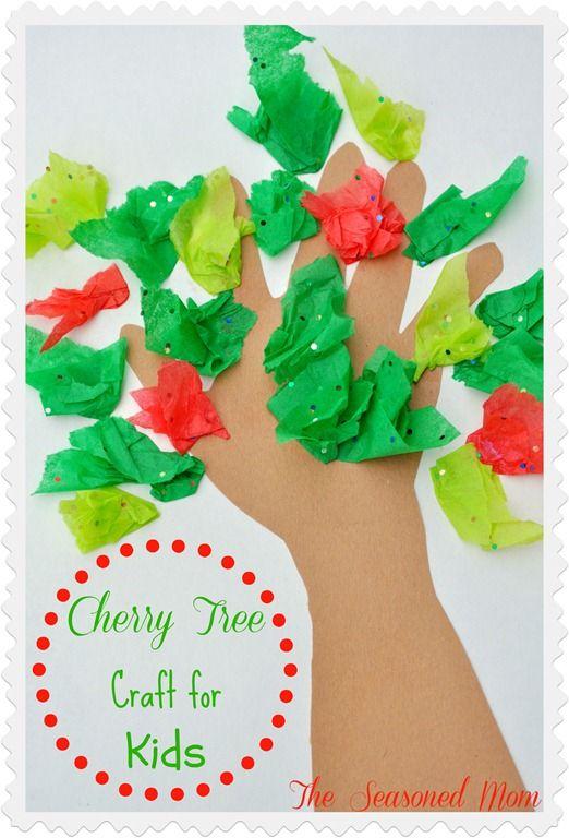George Washington Cherry Tree Craft for Kids