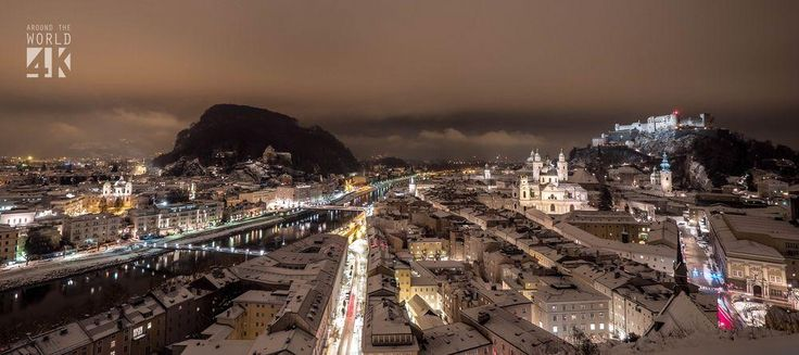 Salzburg, during winter.
