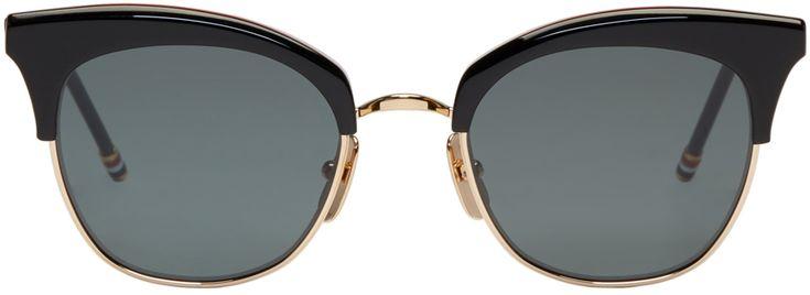 Thom Browne Black & Gold TB 507 Sunglasses