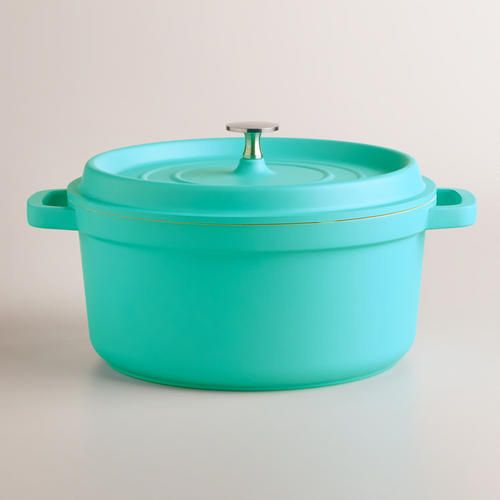 Perfect for slow cooking, our exclusive Dutch oven features a self-basting lid that keeps food moist and improves its flavor. >> #WorldMarket Kitchen Tools and Storage, Kitchen Decor, Tips