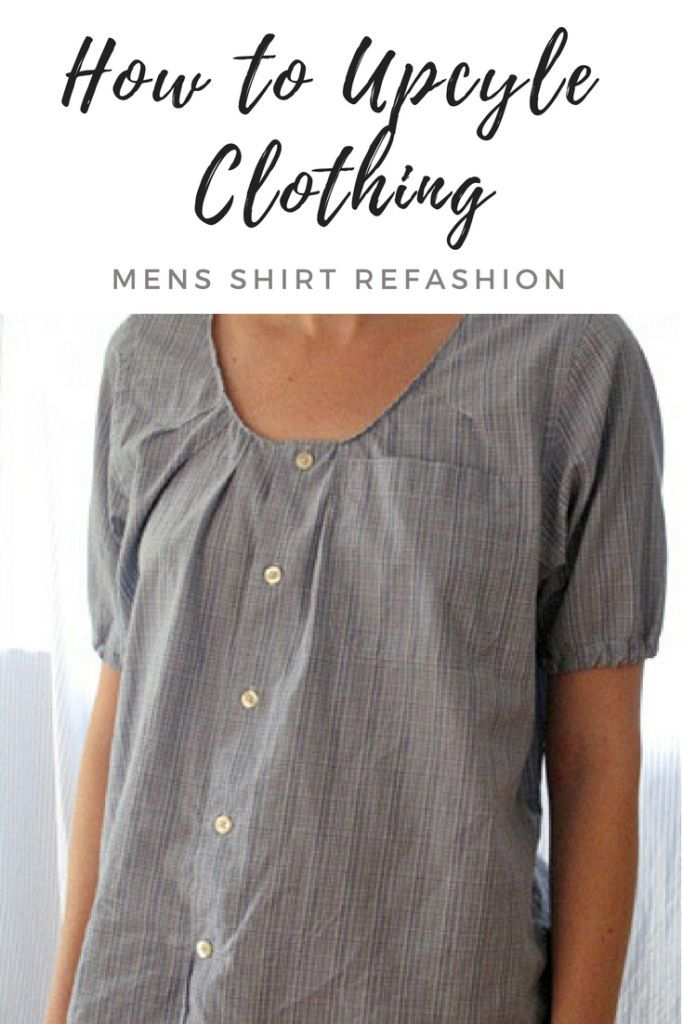 Upcycle Clothing – Mens Shirt Refashion leicht gemacht
