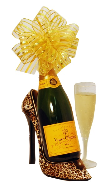 Stiletto and Champagne Gift Set - sexy shoe is a bottle holder and some bubbly! $64.99