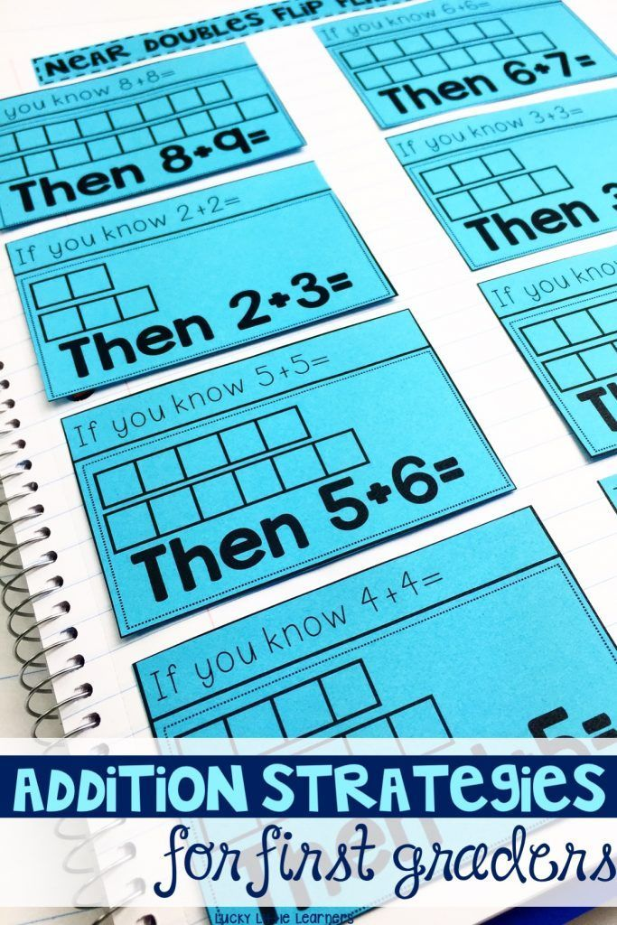 Great addition strategies to help your first graders learn their addition math facts. This addition strategies notebook includes games, activities, centers, and worksheets to use during independent, partner, small group, or whole group math time.