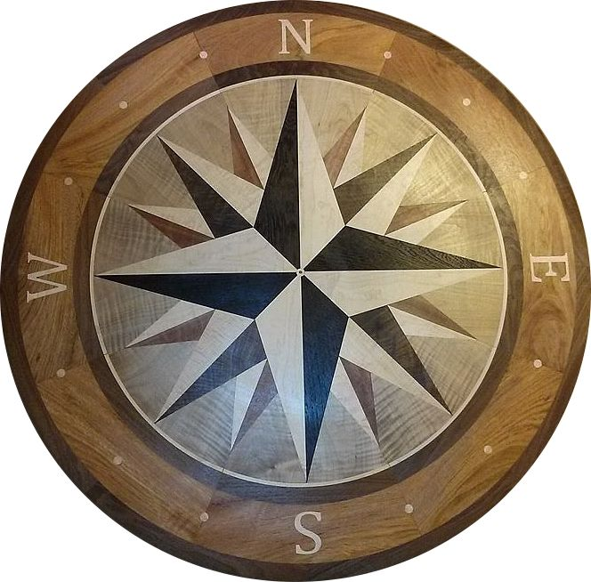 36in Compass Rose Same Inlay A Seen In The Client Pics
