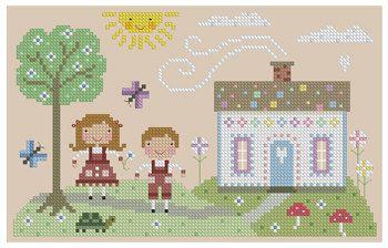 Hansel and Gretel Cross Stitch Pattern