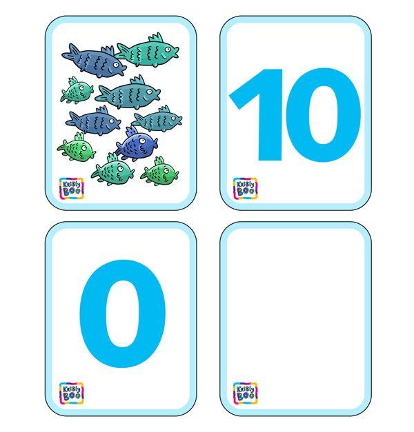 Карточки для счета от 0 до 10