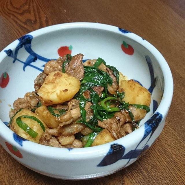 kyoko_favoriteニンニクが効いてる、風変わりな『肉じゃが』  ご飯がすすむぅ~(*´ч`*) #肉じゃが #おうちごはん