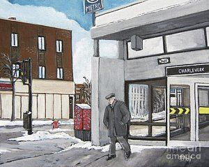 Painting - Metro Charlevoix Pointe St. Charles by Reb Frost