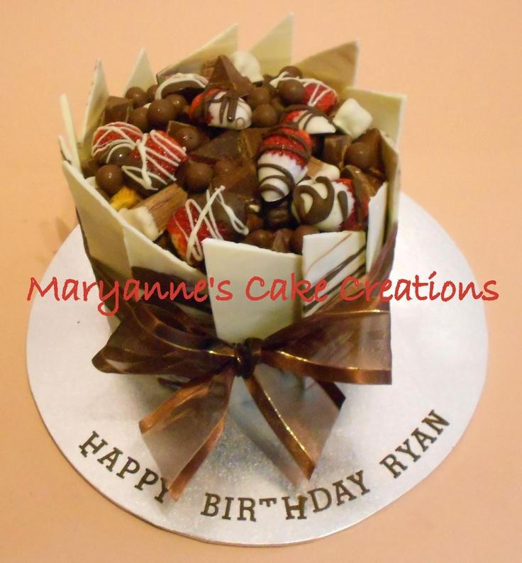 Chocolate Panel Cake - Birthday Cake - White Chocolate ...