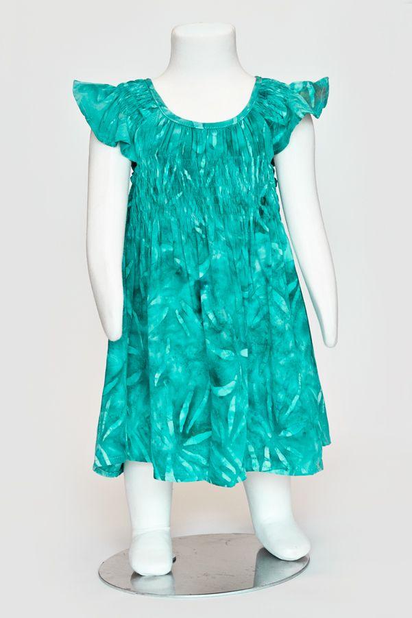 Little girls dress, batik dress, summer dress
