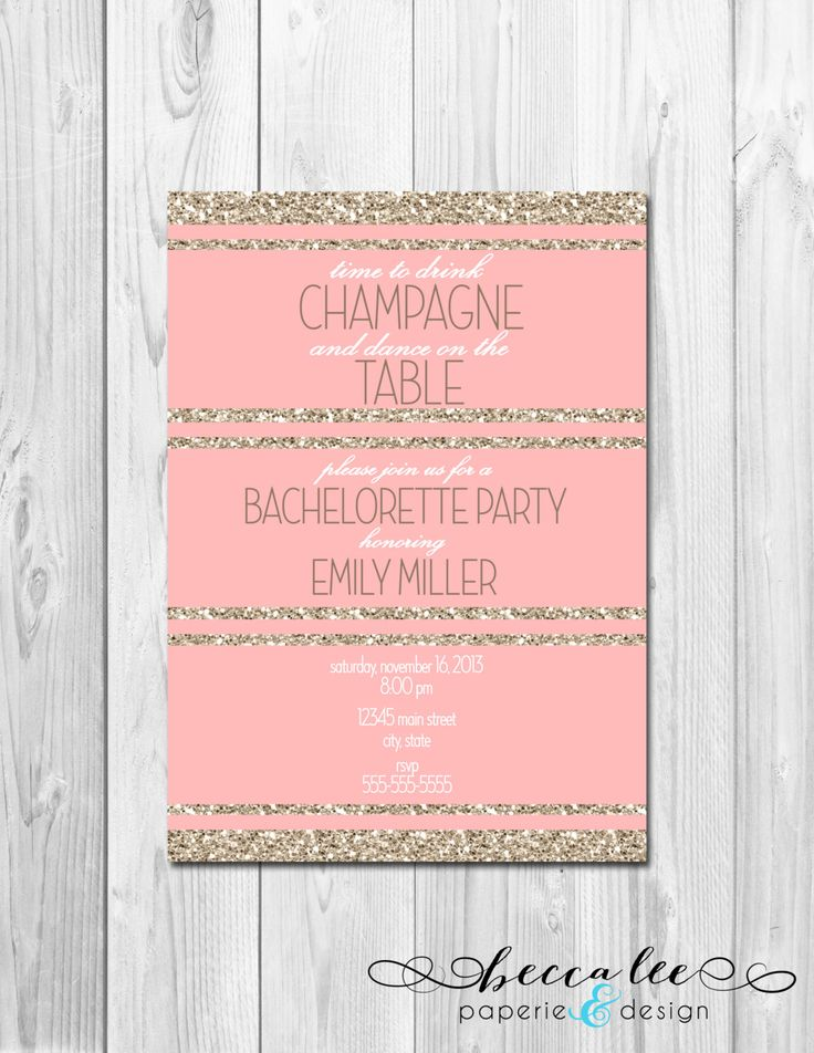 Girls Night Out Birthday Bachelorette Party by BeccaLeePaperie, $13.00
