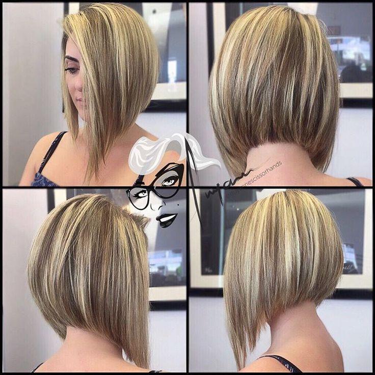 Asymmetrical bob haircut #BobCutHairstylesAngles