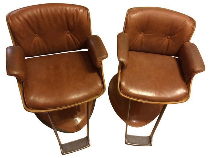 Mid Century Belvedere Barber Chairs Pair Barber Chair