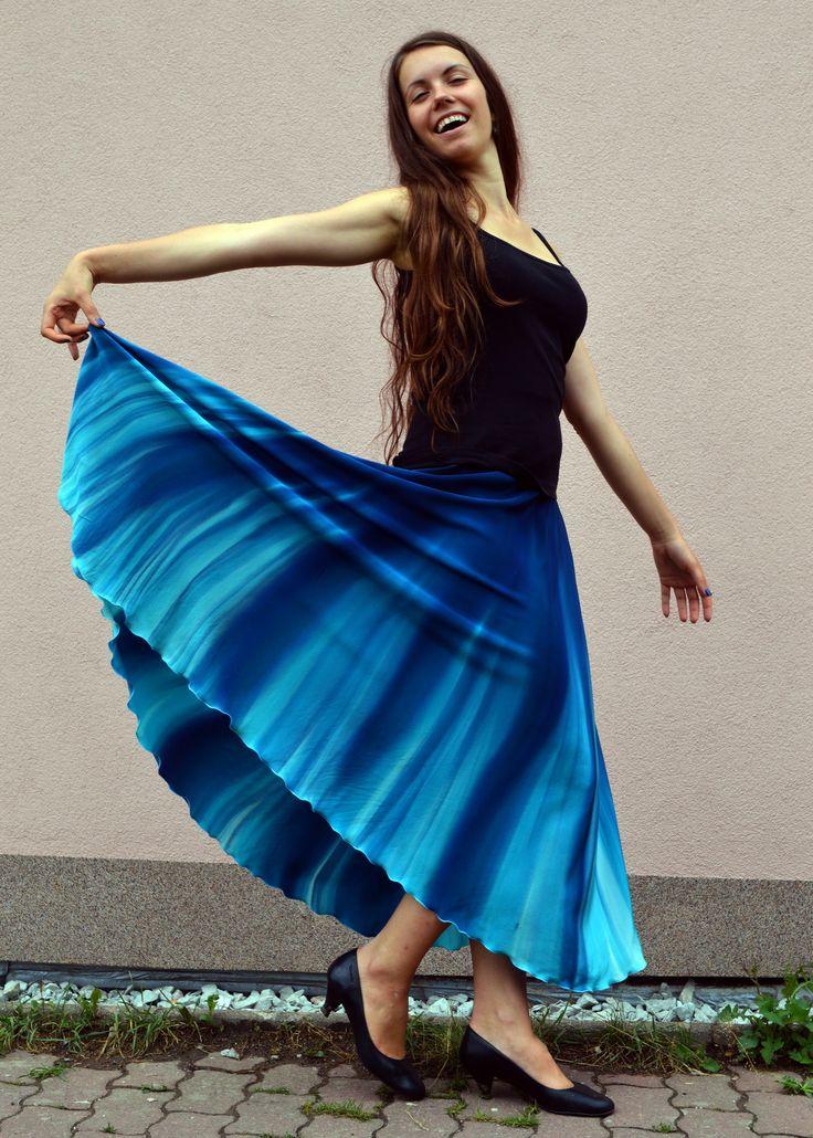 Hedvábná sukně- mořská hlubina