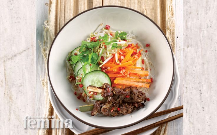 Beef Vermicelli Salad with Nuoc Cham Dressing