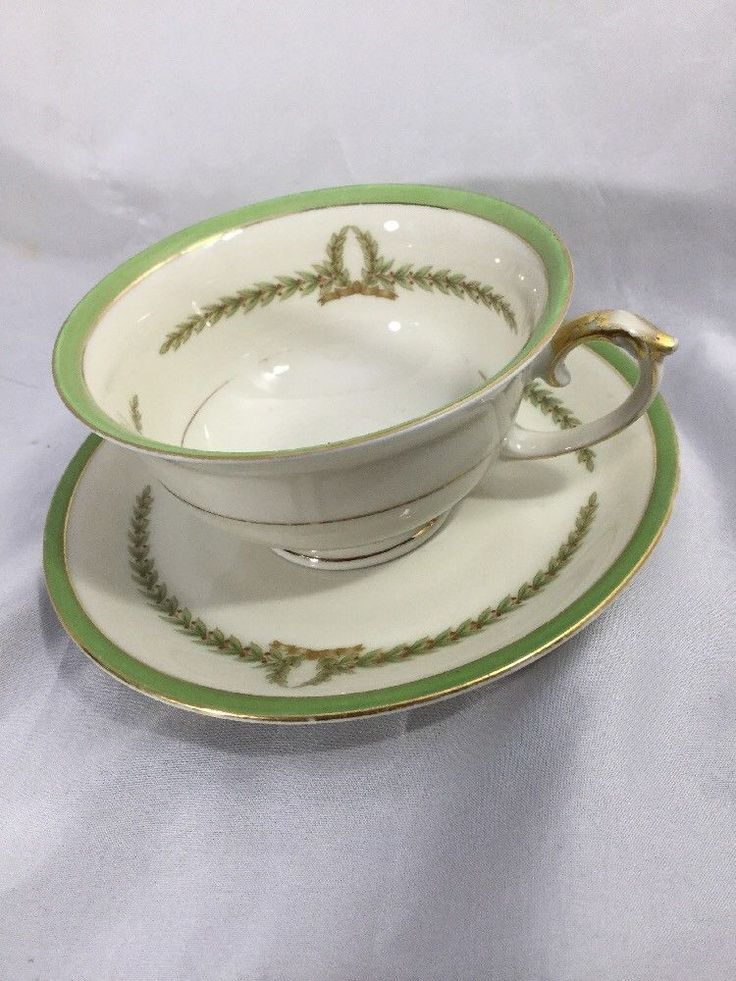 Vintage Eschenbach Bavaria Co. Baronet China LYRIC Made in Bohemia CUP & SAUCER #EschenbachBARONET