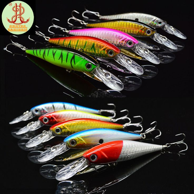 10pcs Wobbler Fishing lures minnow artificial bait