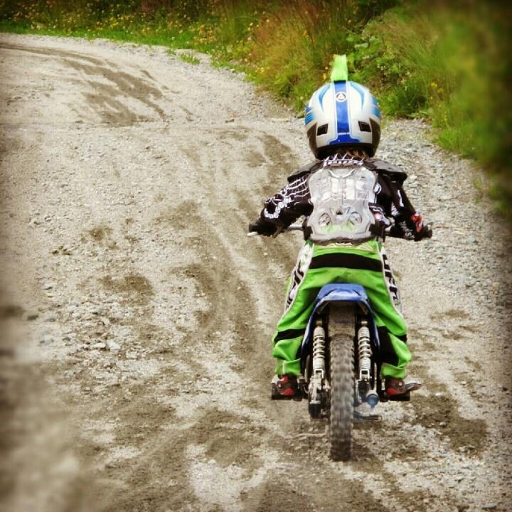 Litle motocross boy, 3year old.  #pw50