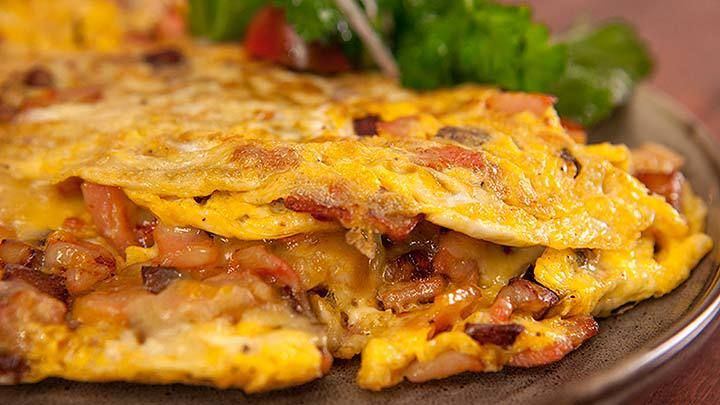Potato and Bacon Omelette