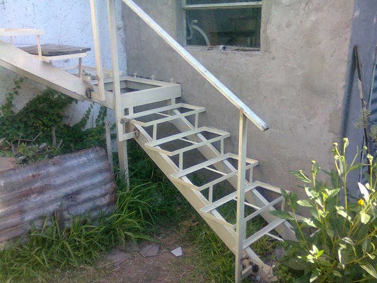 Paso a paso constru mi propia escalera de hierro y for Planos de escaleras de hierro