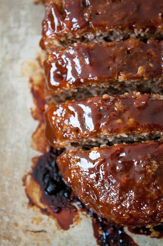 "Honey Barbecue Meatloaf ~ This tender meatloaf only requires a handful of ingredients, is a cinch to throw together... ""I'm not a big fan of meatloaf, but this recipe is amazing"""
