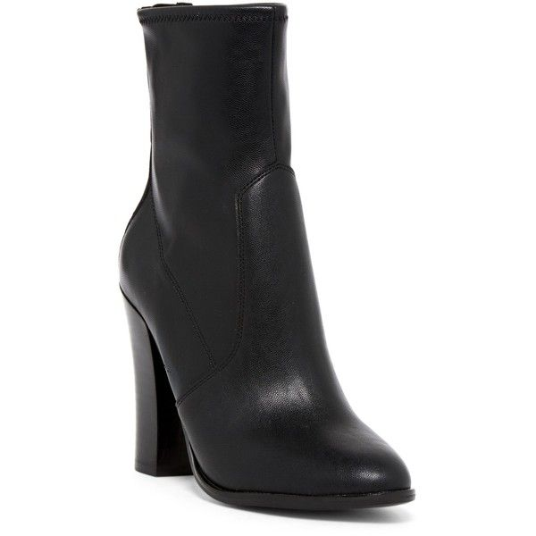 Aldo Tokologo Bootie (86 AUD) ❤ liked on Polyvore featuring shoes, boots, ankle booties, black, almond toe boots, chunky heel ankle boots, chunky heel booties, aldo and aldo boots