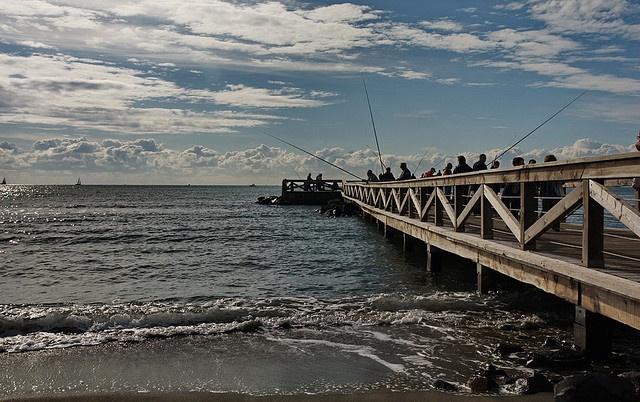 Ostia..Il pontiletto dei pescatori