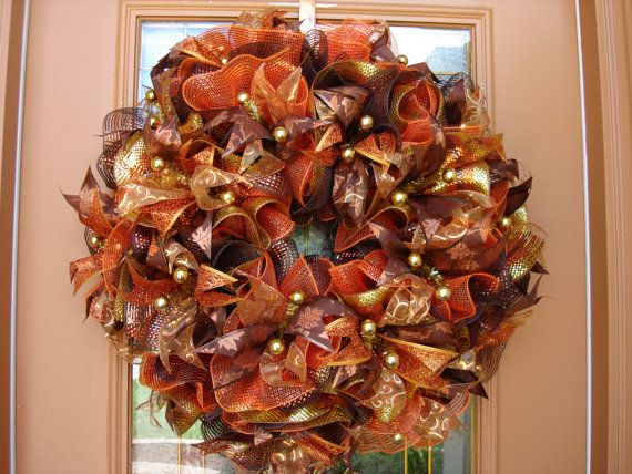 Hey, I found this really awesome Etsy listing at http://www.etsy.com/listing/154509605/deco-mesh-fall-door-wreath