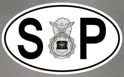 Security Police Stickers