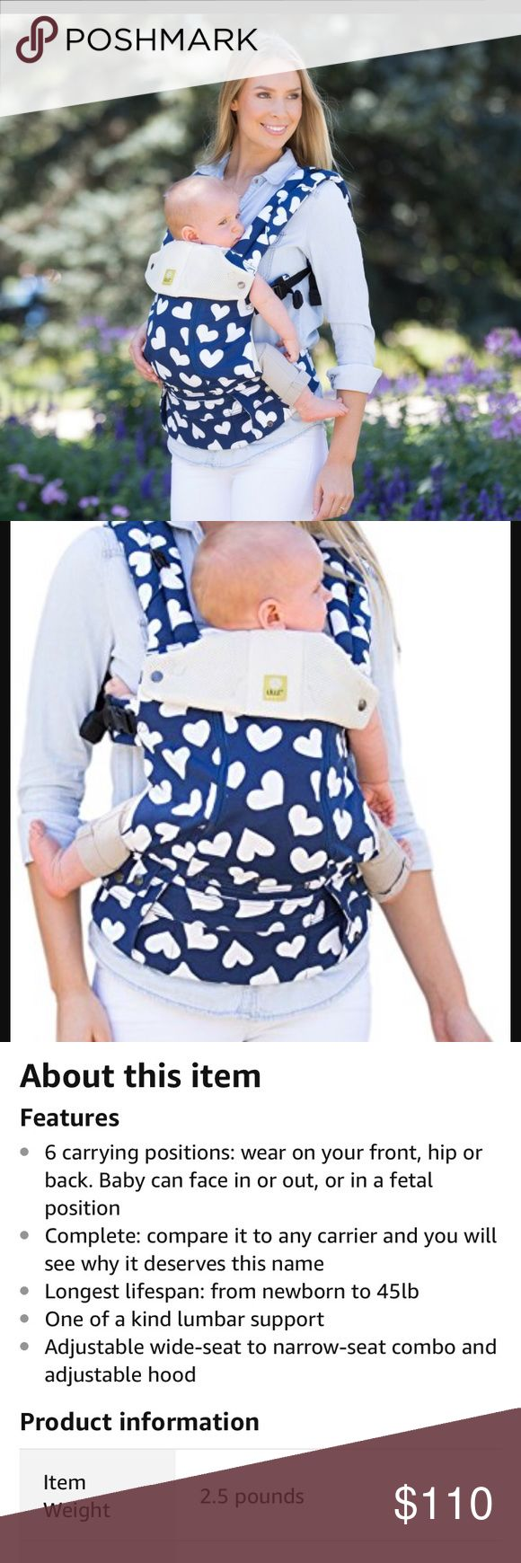 Make a offer Lille baby carrier make me a offer Nice and good conditions , used 5 times .  Household free of any pets, smoke 💨 is super clean we have OCD when it comes to cleaning so don't need to worry about things been dirty make me a offer lille Other